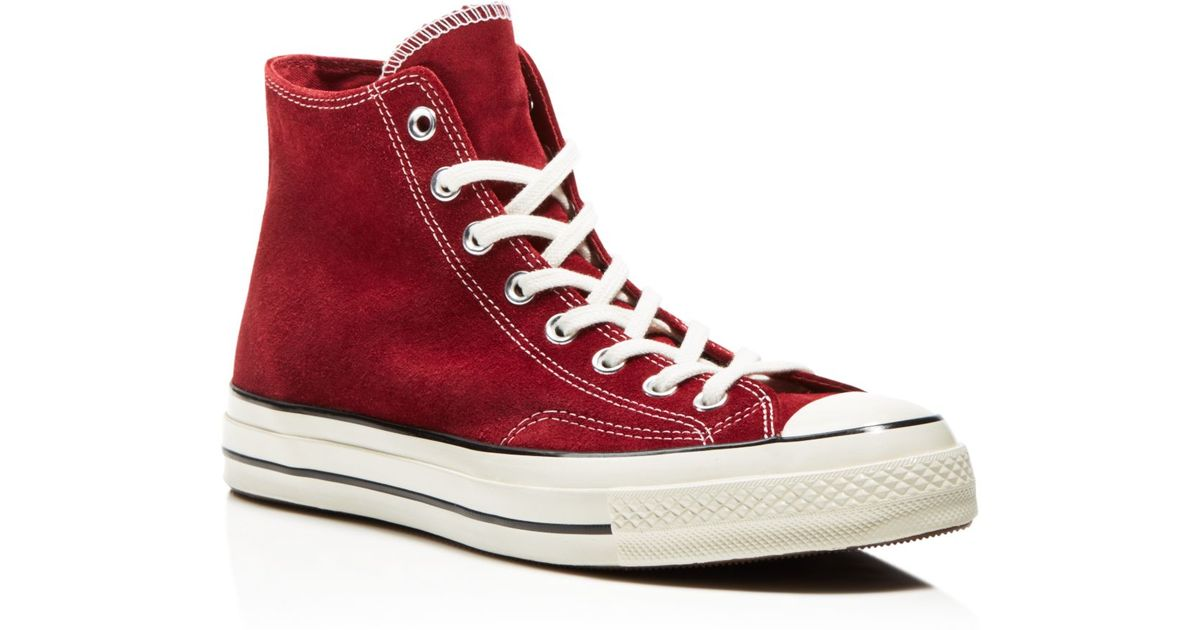 Alta qualit Sneaker Converse HI Suede RED