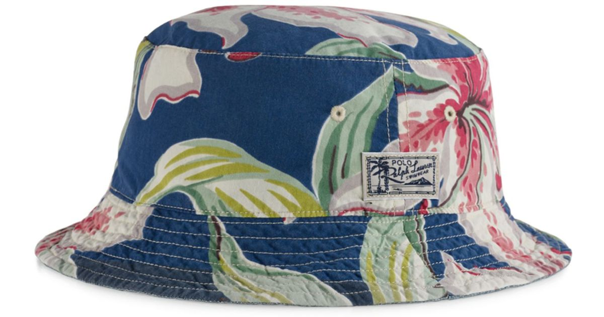 Lyst - Polo Ralph Lauren Big And Tall Reversible Tropical Bucket Hat in  Blue for Men d8561276a28e
