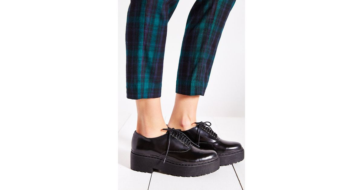 8e87a1c8a08a Lyst - Jeffrey Campbell Baird Oxford in Black