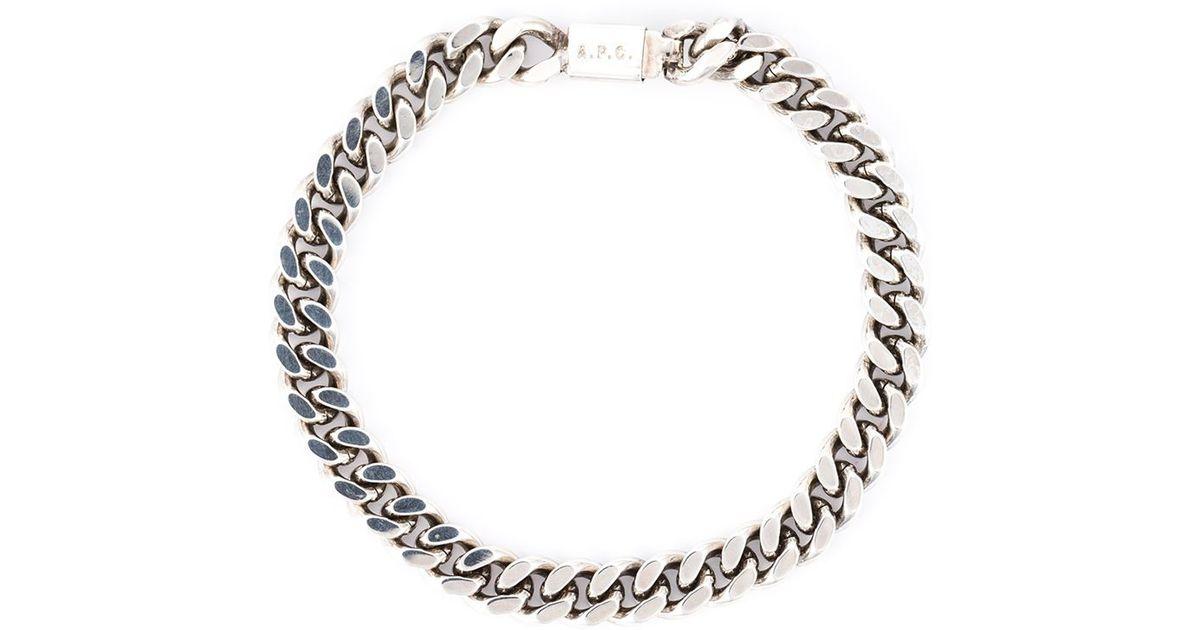 Bracelet À Deux Chaînes - Apc Métallique mDicLL3