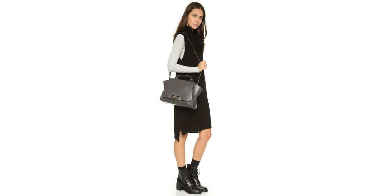 a560d61fb4ac Lyst - Zac Zac Posen Eartha Iconic Soft Top Handle Bag - Charcoal in Gray