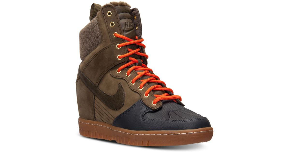 3431d1b4c42 ... spain lyst nike womens dunk sky hi 2.0 sneakerboot from finish line in  green dac8a 76046