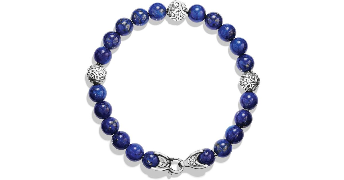 Lyst David Yurman Spiritual Beads Bracelet With Lapis Lazuli In Blue For Men