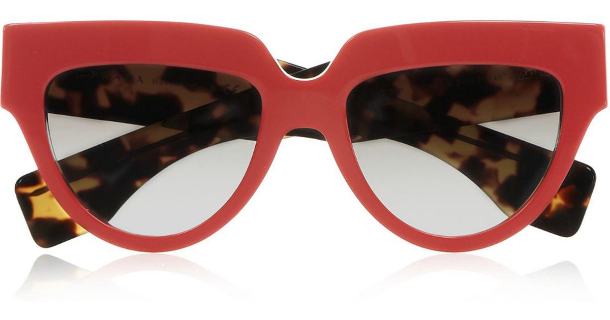 how much does a prada handbag cost - Prada Cat Eye Acetate Sunglasses in Red   Lyst