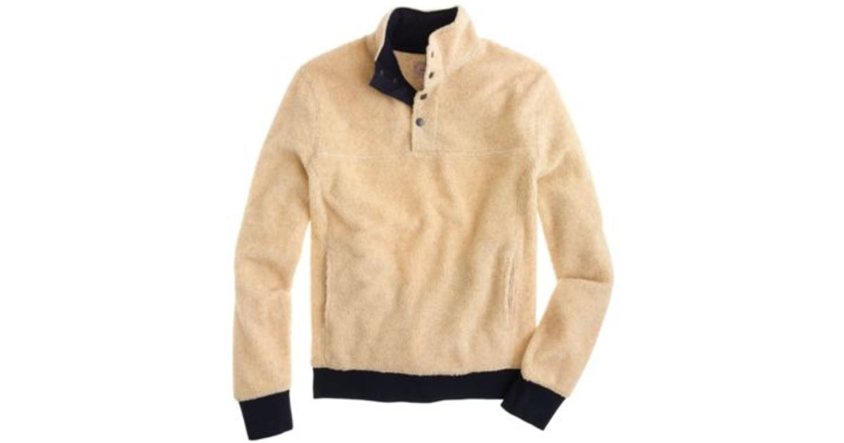 J.crew Grizzly Fleece Pullover Jacket in Natural for Men | Lyst