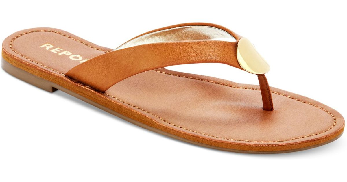 486a2baac47f Lyst - Report Shields Flat Thong Sandals in Brown