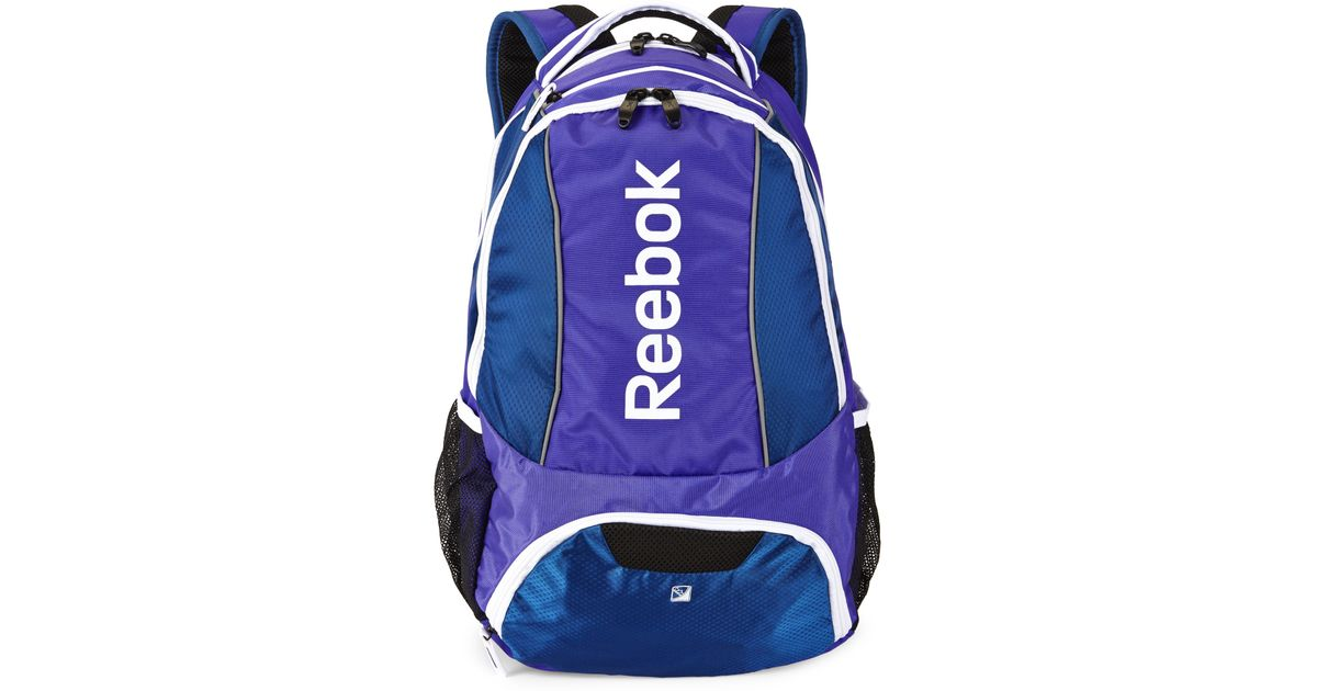Lyst - Reebok Purple   Blue Tornado Backpack in Purple