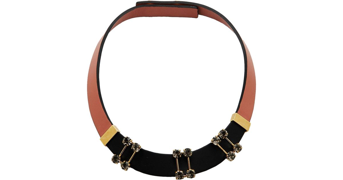shop necklaces resin stylight necklace ribbon up product marni to