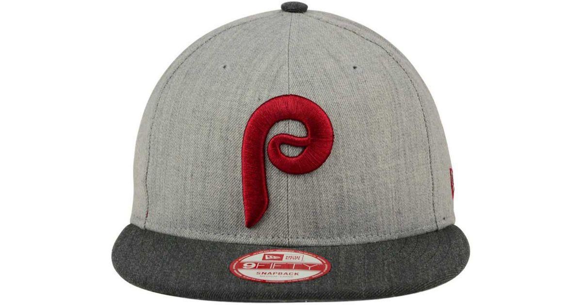 4bd001ea357cd KTZ Philadelphia Phillies Heather Action 9fifty Snapback Cap in Gray for Men  - Lyst