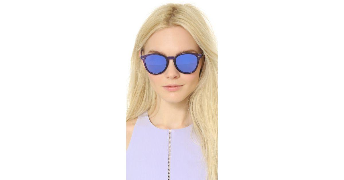 e5bfe45be8 Le Specs Bandwagon Sunglasses - Ultraviolet purple Revo Mirror in Purple -  Lyst