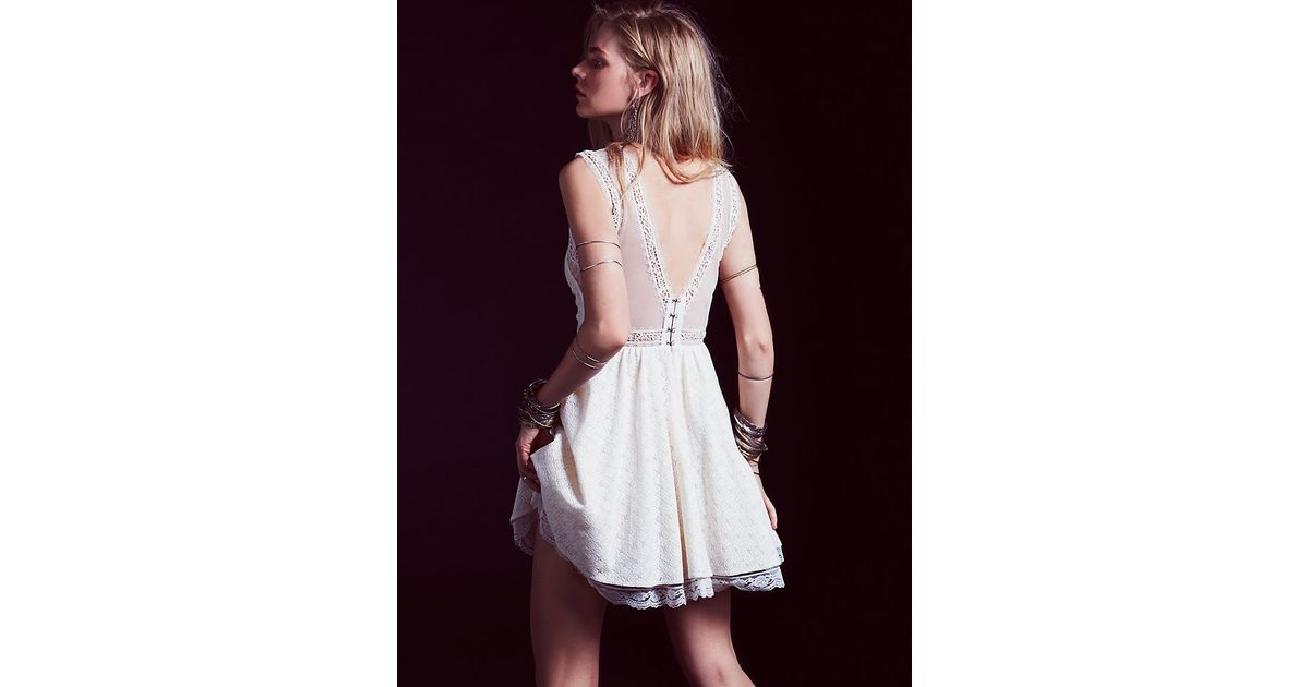 242a06a5061d5 Lyst - Free People Womens Victoria Mini Dress in White