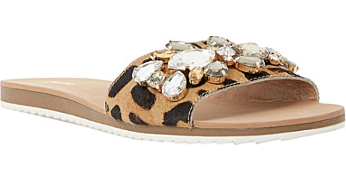 29788ff25df1 Dune Kreme Jewelled Mule Sandals - For Women in Natural - Lyst