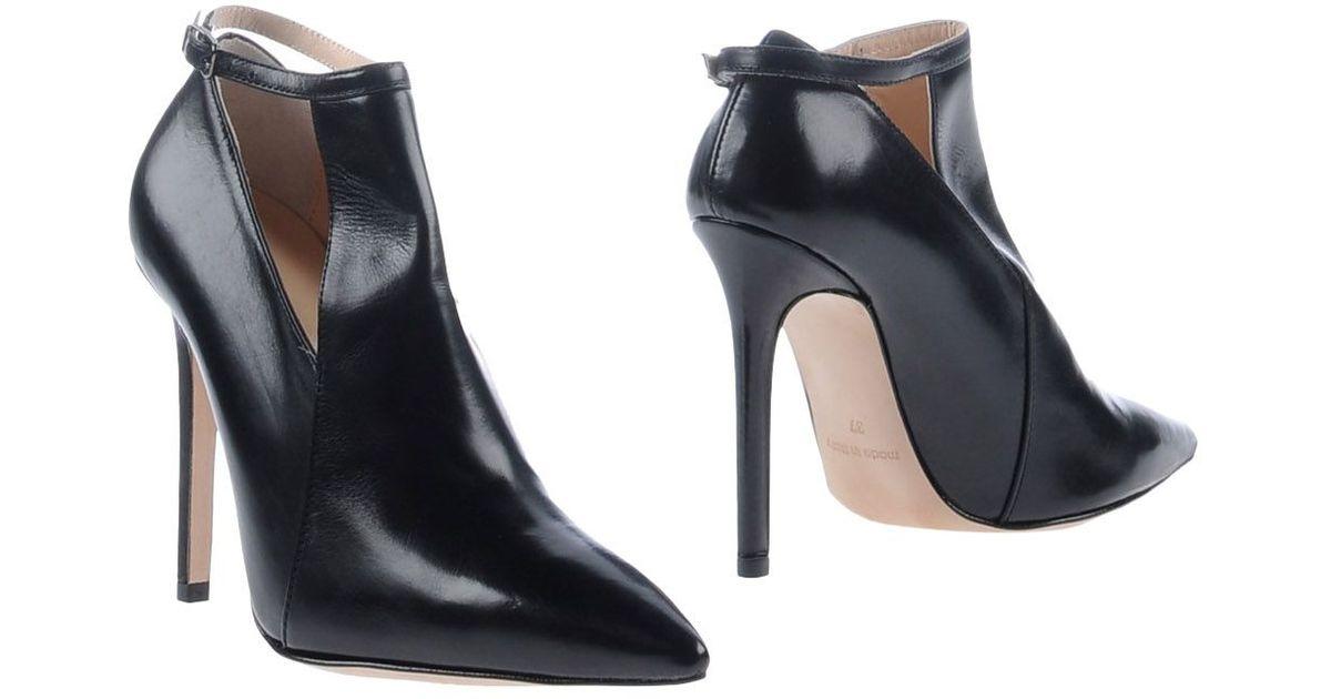 7411804d479dd9 Lyst - Les Trois Garçons Shoe Boots in Black