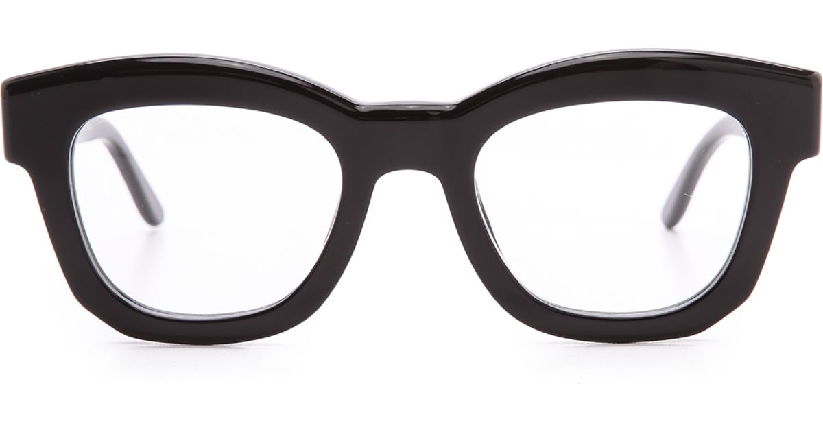 Lyst - Stella Mccartney Thick Frame Glasses - Brown in Black
