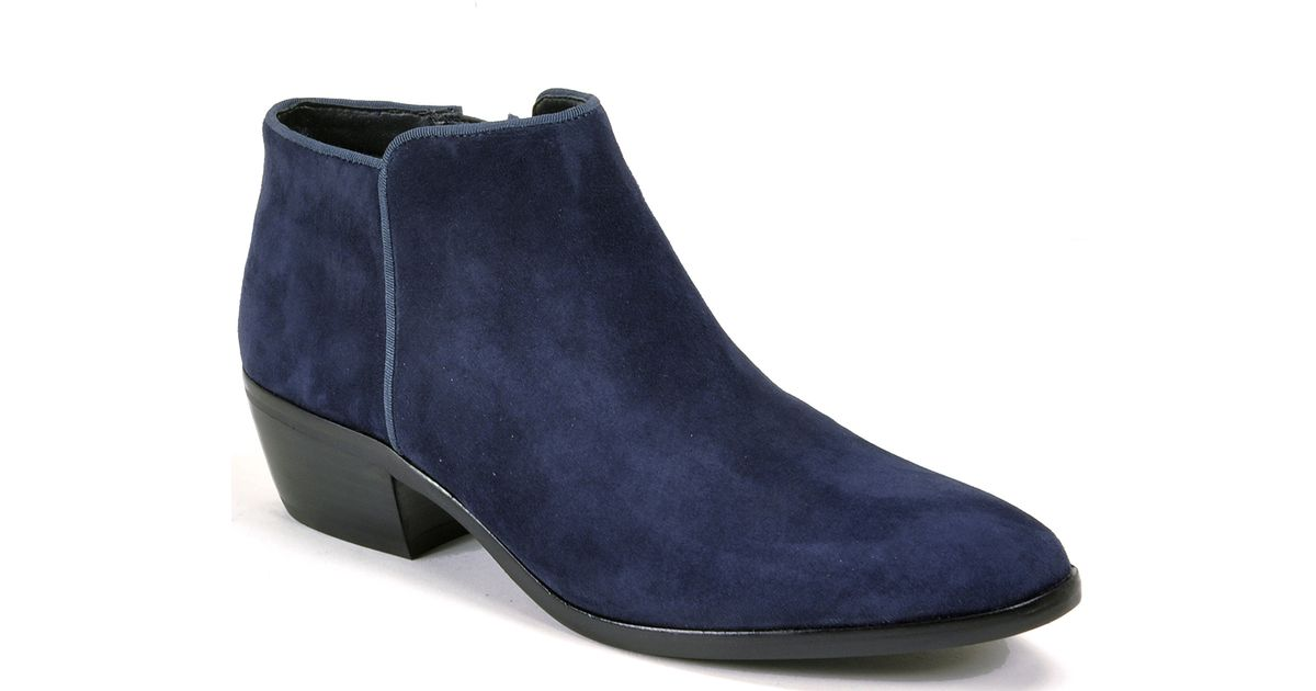 8a05b6ff6f5962 Lyst - Sam Edelman Suede Ankle Boots in Blue