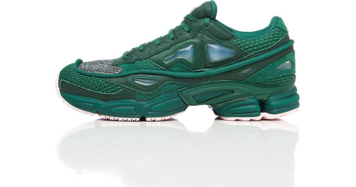 23007c7fa9bd03 Lyst - adidas By Raf Simons X Raf Simons Ozweego 2 In Dark Green in Green  for Men