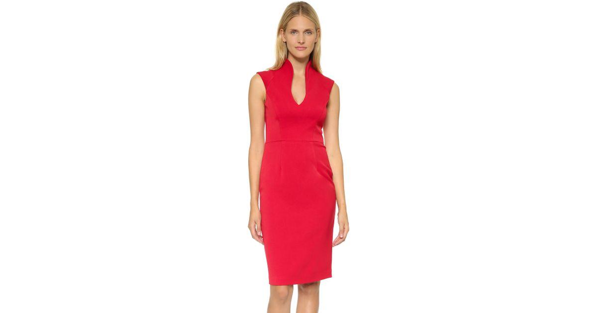 Lyst Black Halo Zara Sheath Dress In Red