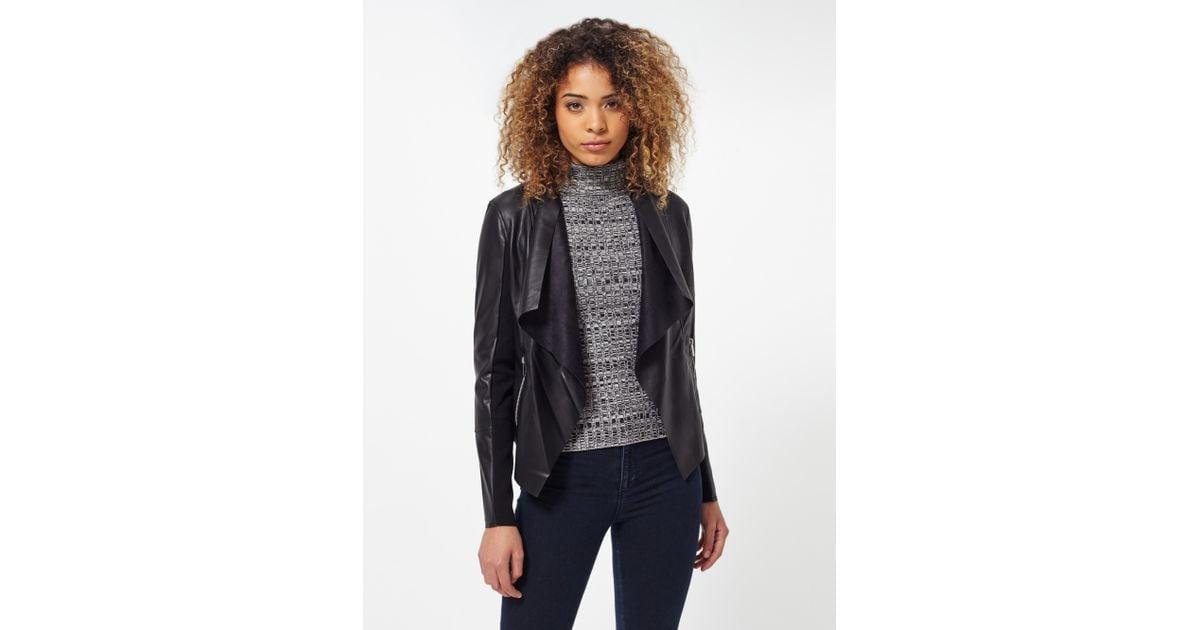 Miss Selfridge Quilted Studded Biker Jacket H61yh Womens Coats Jackets Black
