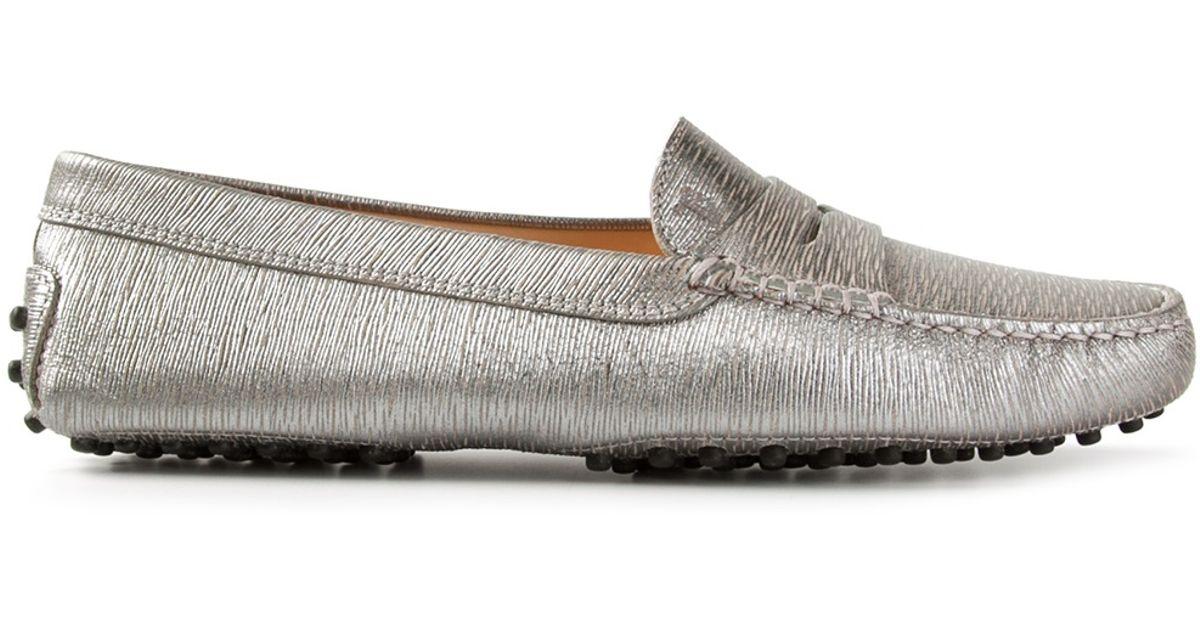 44172a9a5f5 Tod s Metallic Loafers in Metallic - Lyst