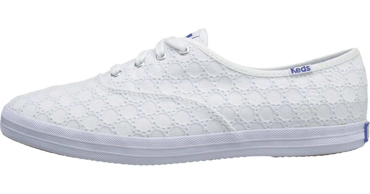 23c24f8cbdf44 Lyst - Keds Champion Eyelet in White