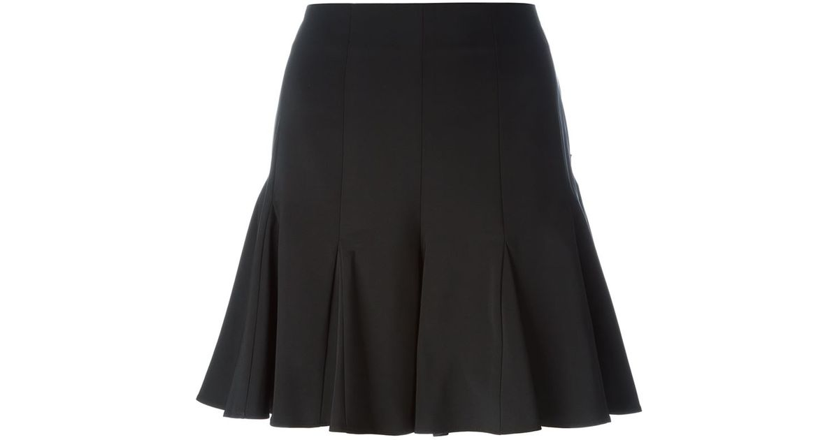 opening ceremony pleated hem a line skirt in black save