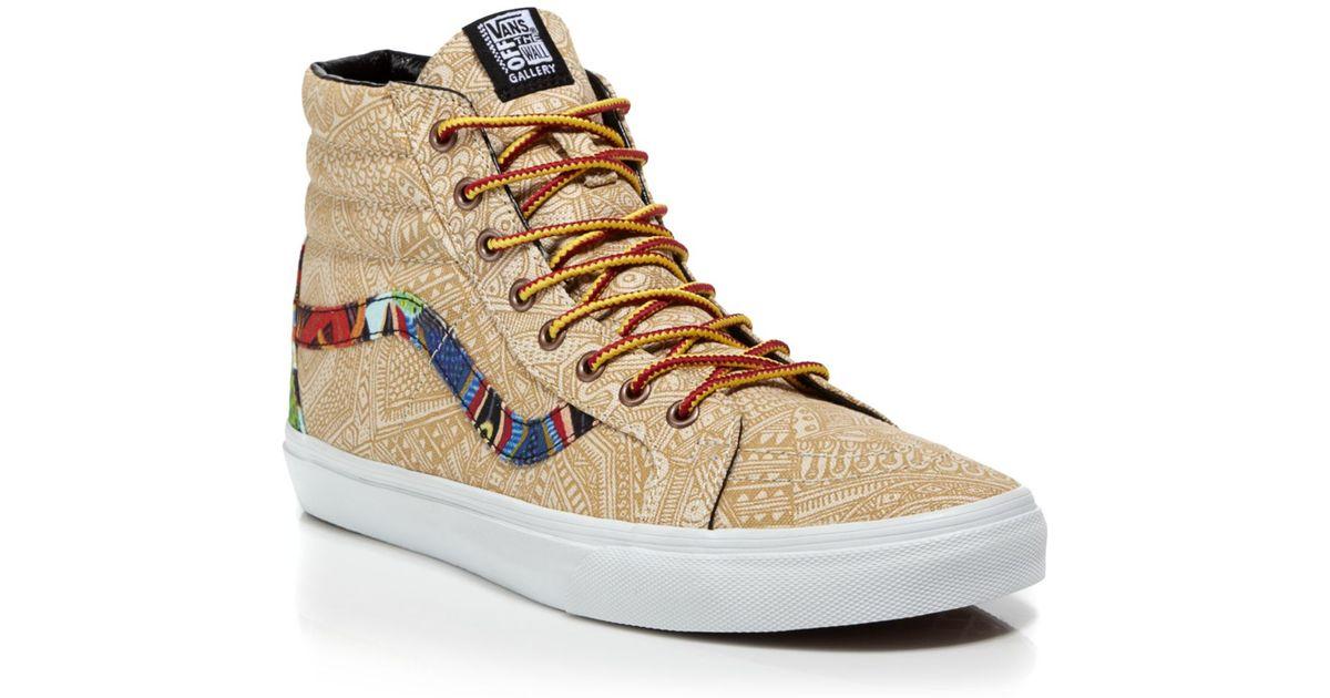 b45d03de3c Lyst - Vans Sk8 Hi Reissue Otw Gallery Zio Ziegler Sneakers in Natural for  Men