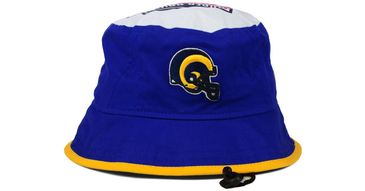 Lyst - Ktz St. Louis Rams Traveler Bucket Hat in Blue for Men 1f4b84037a4