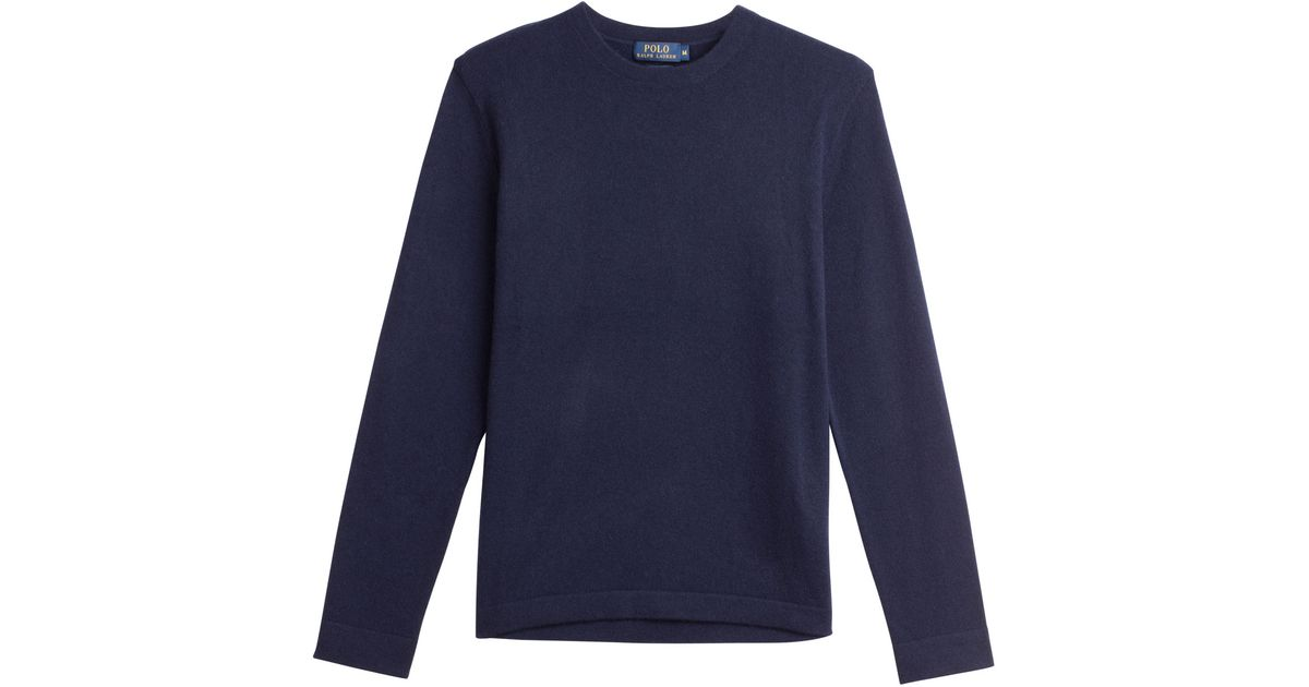 polo ralph lauren cashmere pullover blue in blue for men lyst. Black Bedroom Furniture Sets. Home Design Ideas