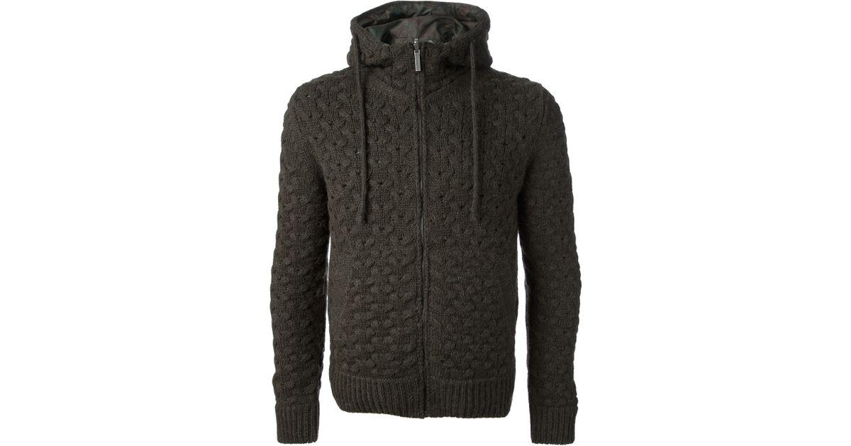 91514b46b Esemplare - Gray Basket Weave Hooded Jacket for Men - Lyst