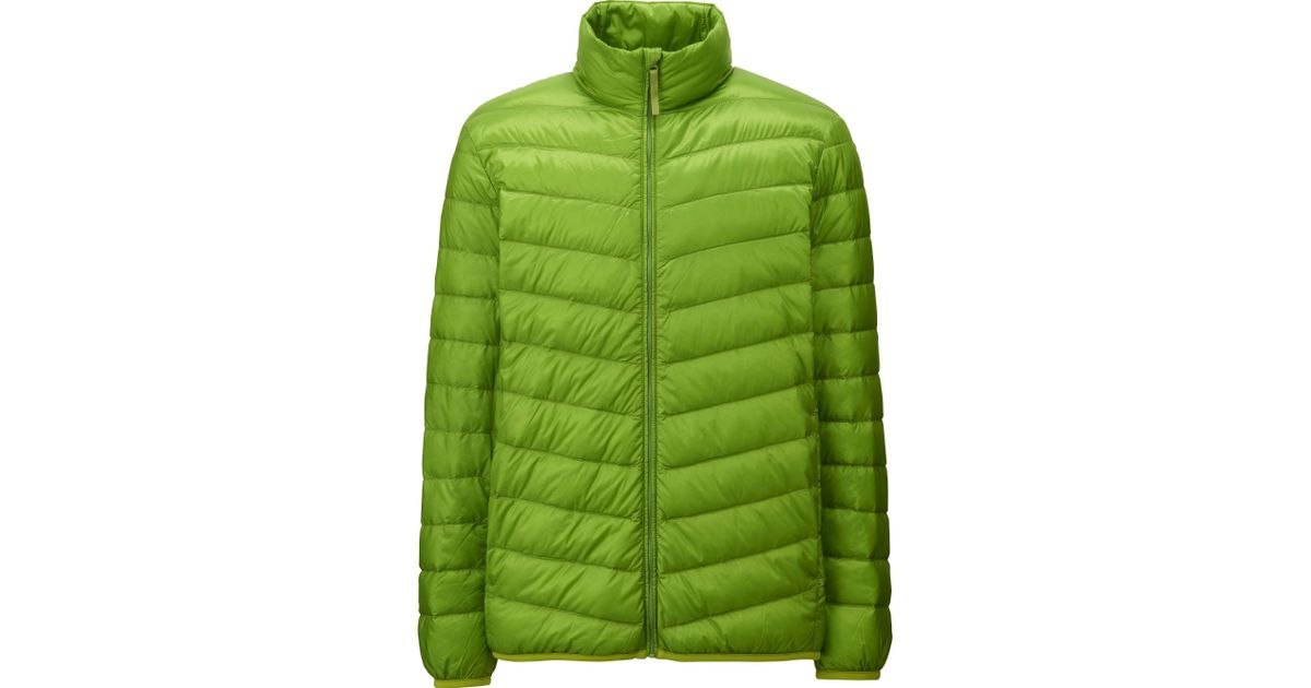 uniqlo men ultra light down jacket in green for men lyst. Black Bedroom Furniture Sets. Home Design Ideas