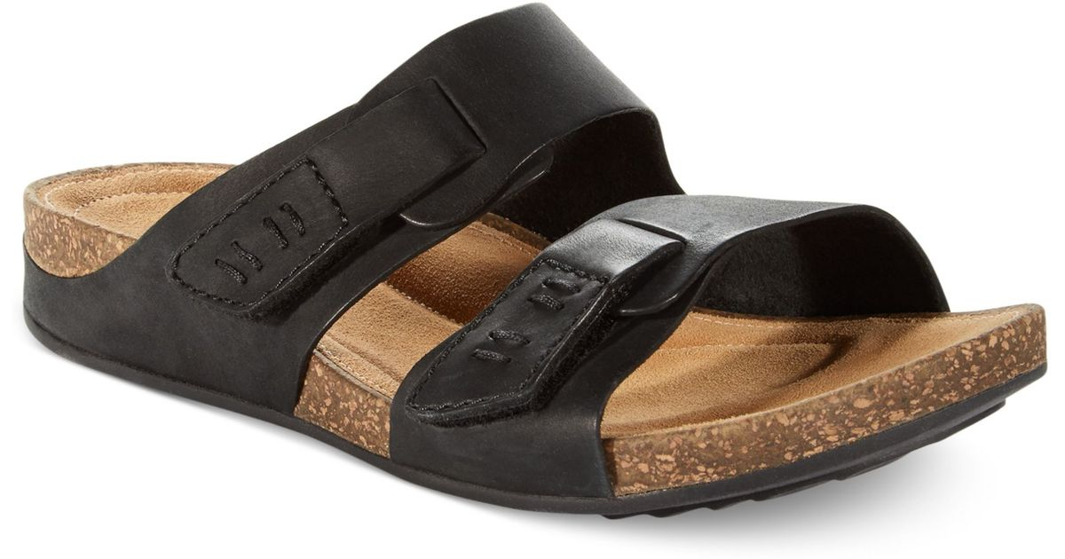 918db024900 Lyst - Clarks Womens Artisan Perri Island Footbed Sandals in Black