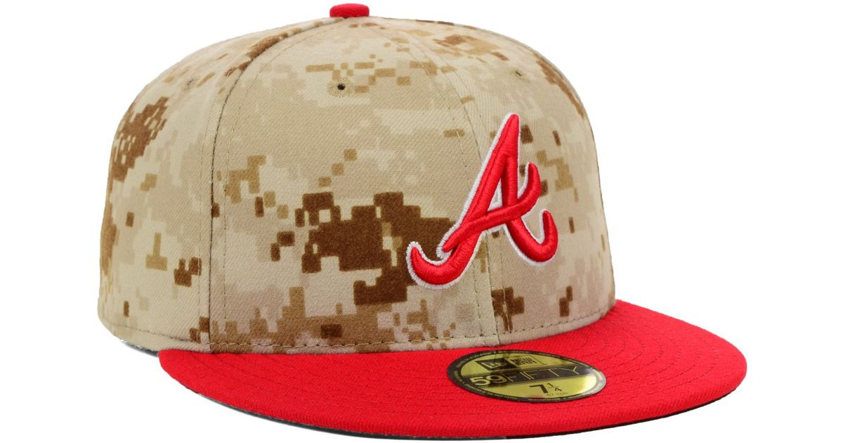 2688aa3e59c Lyst - KTZ Atlanta Braves Mlb 2014 Memorial Day Stars And Stripes 59Fifty  Cap in Green for Men