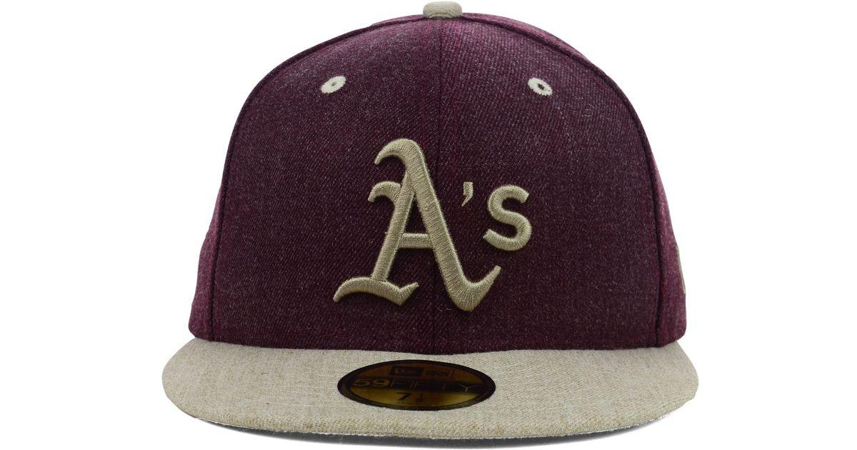 innovative design 486cc 5b814 Lyst - KTZ Oakland Athletics Heather Mashup 59Fifty Cap in Purple for Men