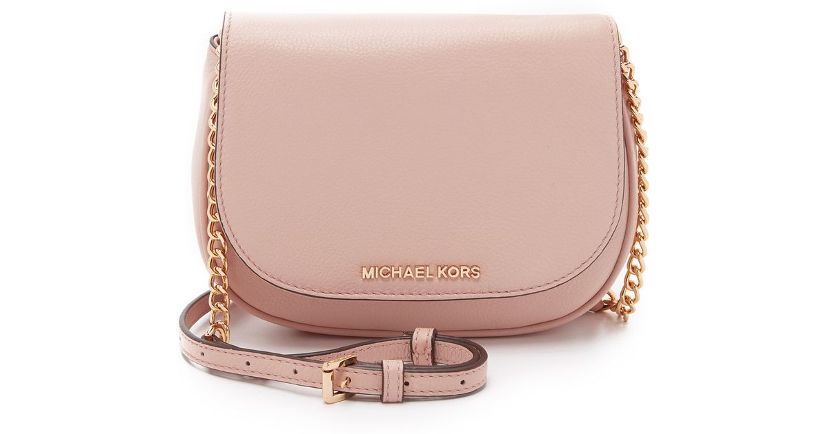 e3feab425e6a MICHAEL Michael Kors Bedford Small Cross Body Bag in Pink - Lyst