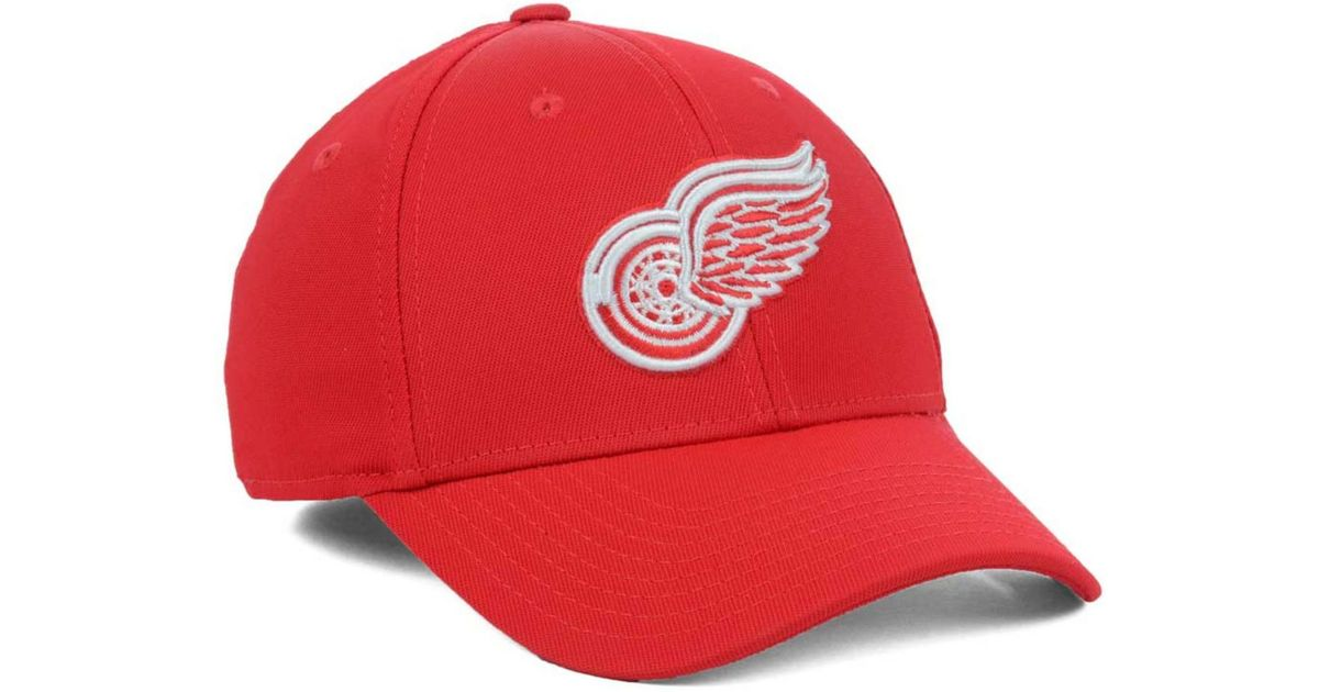 6743e60a0b8 Lyst - Reebok Detroit Red Wings Hat Trick Cap in Red for Men