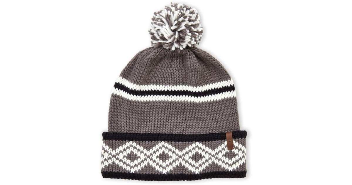 33aa88c6700 Lyst - Timberland Pom-Pom Printed Watch Cap in Gray for Men