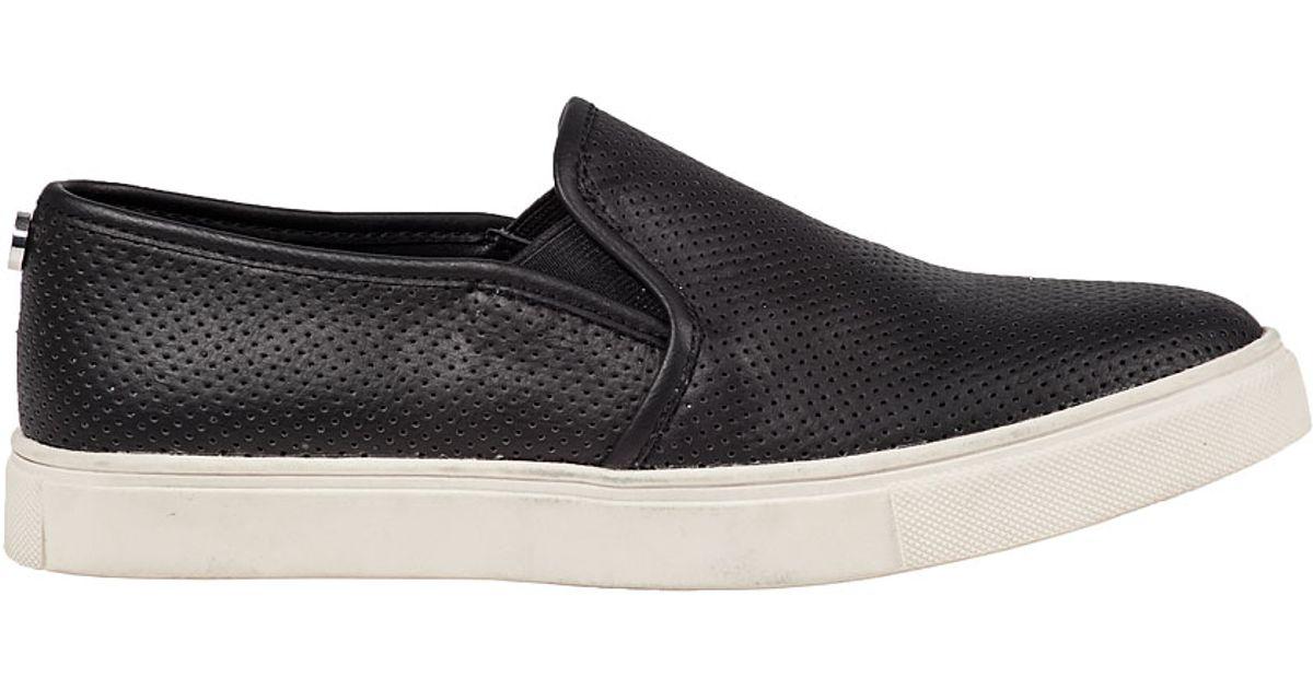 2b3962672fcab Steve Madden Ezeke Perforated Slip-on Sneaker Black in Black - Lyst