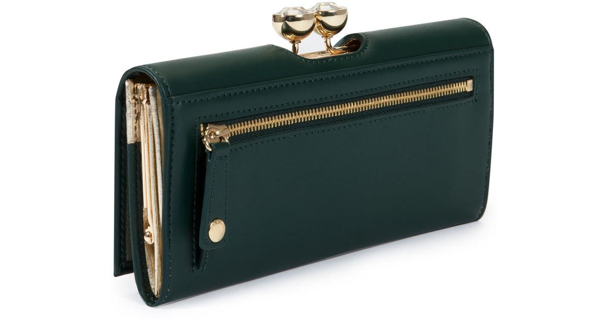 8f92429b001f Ted Baker Kassady Leather Crystal Bobble Matinee Purse in Green - Lyst