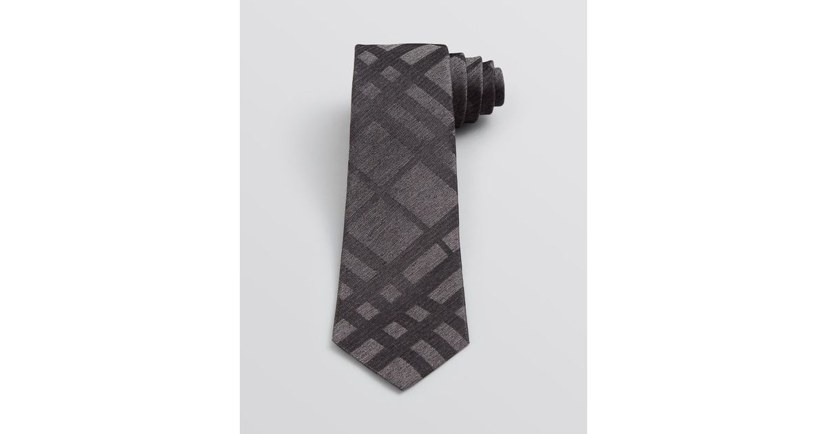 a3fa37943 ... 50% off lyst burberry london earl subtle check skinny tie in gray for  men 3ac1e