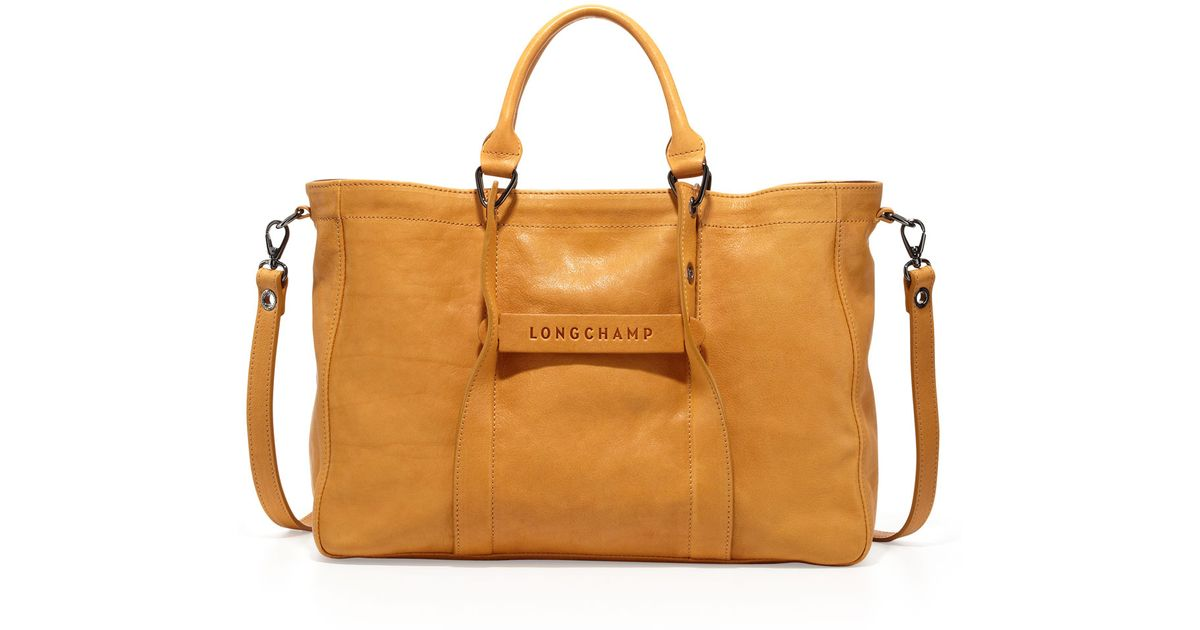 a01fab34c662 Lyst - Longchamp 3D Leather Tote Bag in Orange