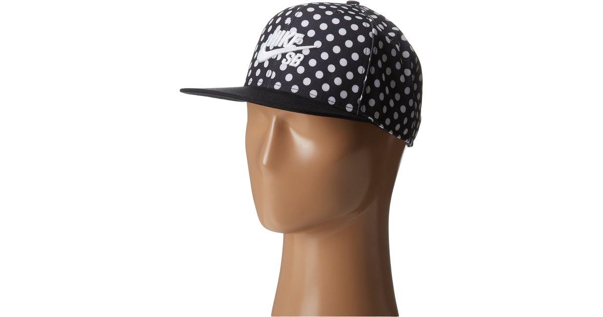 0d070456d44 Lyst - Nike Polka Icon Snapback in Black for Men