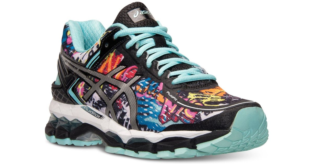 ... cheap lyst asics womens gel kayano 22 nyc running sneakers from finish  line in blue 82f52 dc3caf2eb0af