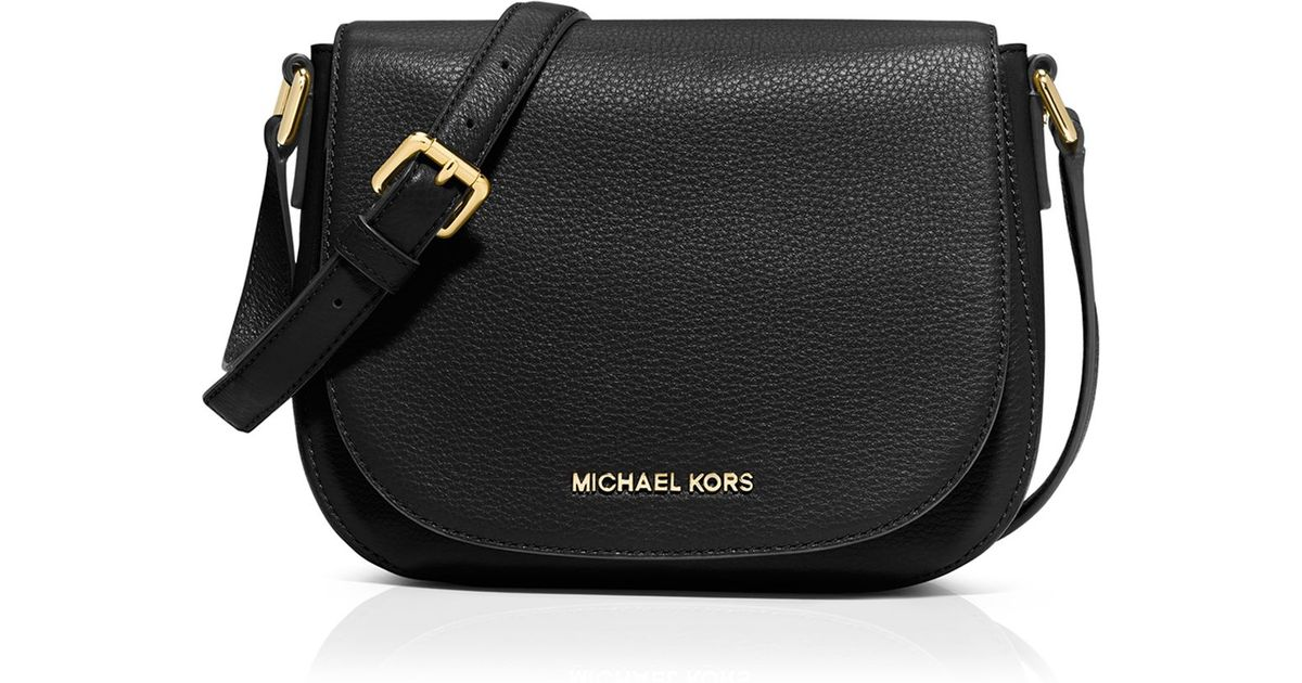 fed5380a9a60df ... top quality lyst michael michael kors crossbody bedford medium flap  messenger in black 6f4db a8f44