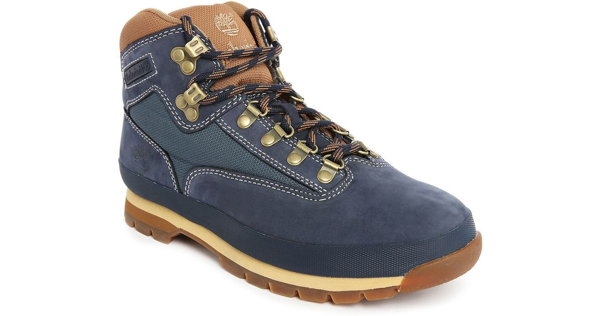 Timberland Euro Hiker Blue Boots In Blue For Men Lyst