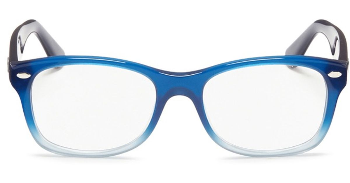 Lyst - Ray-Ban Junior Square Frame Ombré Acetate Optical Glasses in Blue