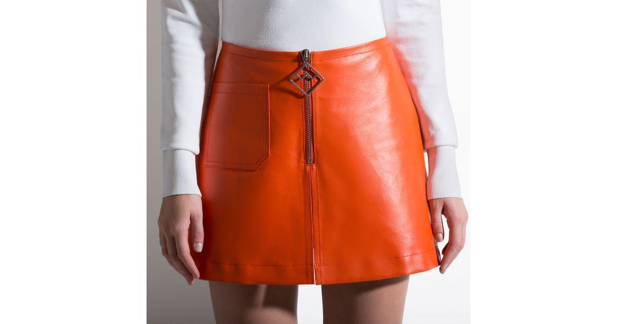 bally leather mini skirt s leather skirt in blaze