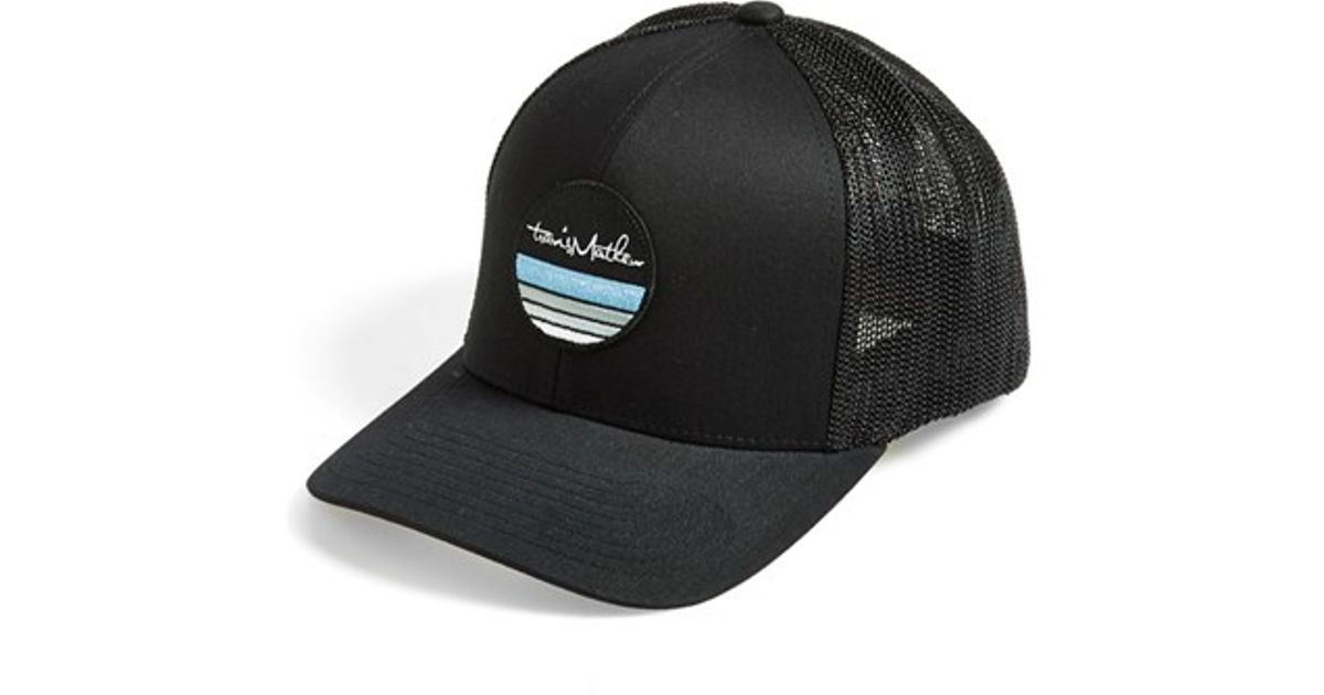 b9addb6af5d ... best price lyst travis mathew mcknight trucker hat in black for men  04c1a 5e4e1