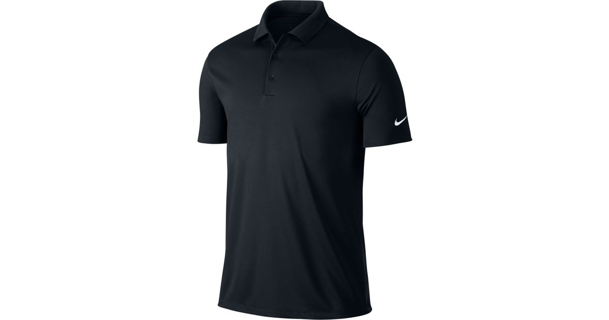 Nike Men's Victory Solid Dri-fit Golf Polo in Black for Men   Lyst