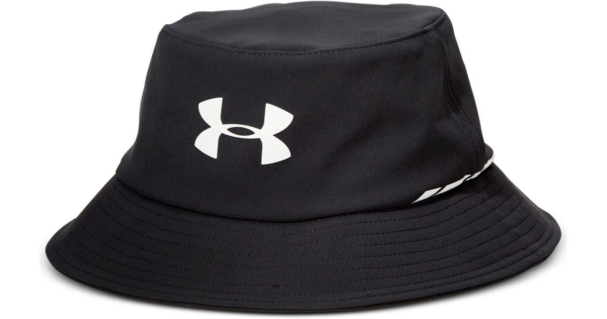 aaf7c2d4f76 ... uk lyst under armour elements water resistant golf bucket hat in black  for men 2b6fc 1fc17