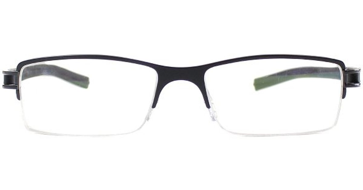 Lyst - Tag Heuer Tag 7621 001 Black Metal Semi Rimless Eyeglasses in ...